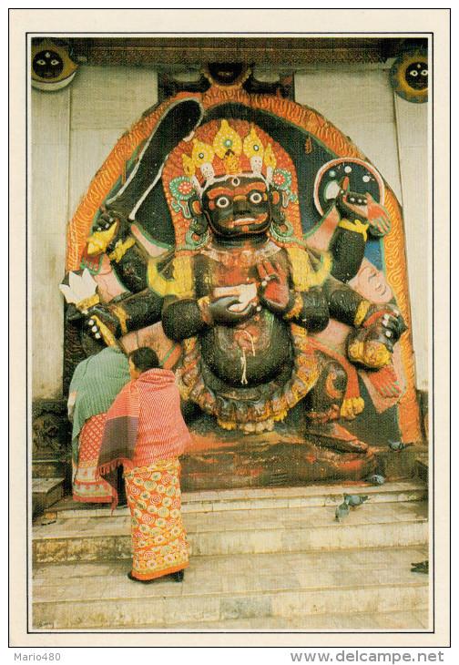 NEPAL  KATMANDU:  KHALA BHAIRAVA  LA DEA DISTRUTTRICE  (NUOVA CON DESCRIZIONE DEL SITO SUL RETRO) - Nepal