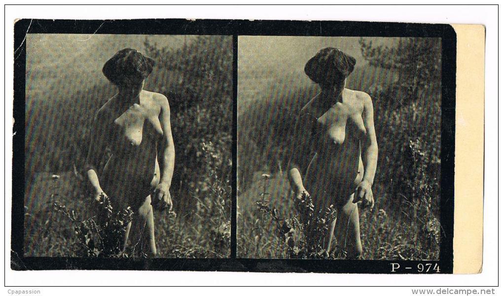 NUS FEMININS - NUDED - PHOTO STEREOSCOPIQUE  - Beauté Féminine D'Autrefois - Début Années 1900 -  P.974 - Photos Stéréoscopiques