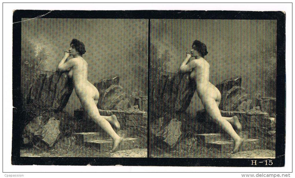 NUS FEMININS - NUDED - PHOTO STEREOSCOPIQUE  - Beauté Féminine D´Autrefois - Début Années 1900 - H.15 - Photos Stéréoscopiques