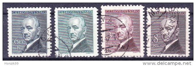 Tchécoslovaquie 1946 Mi 508-11 (Yv 436-9), Obliteré - Used Stamps