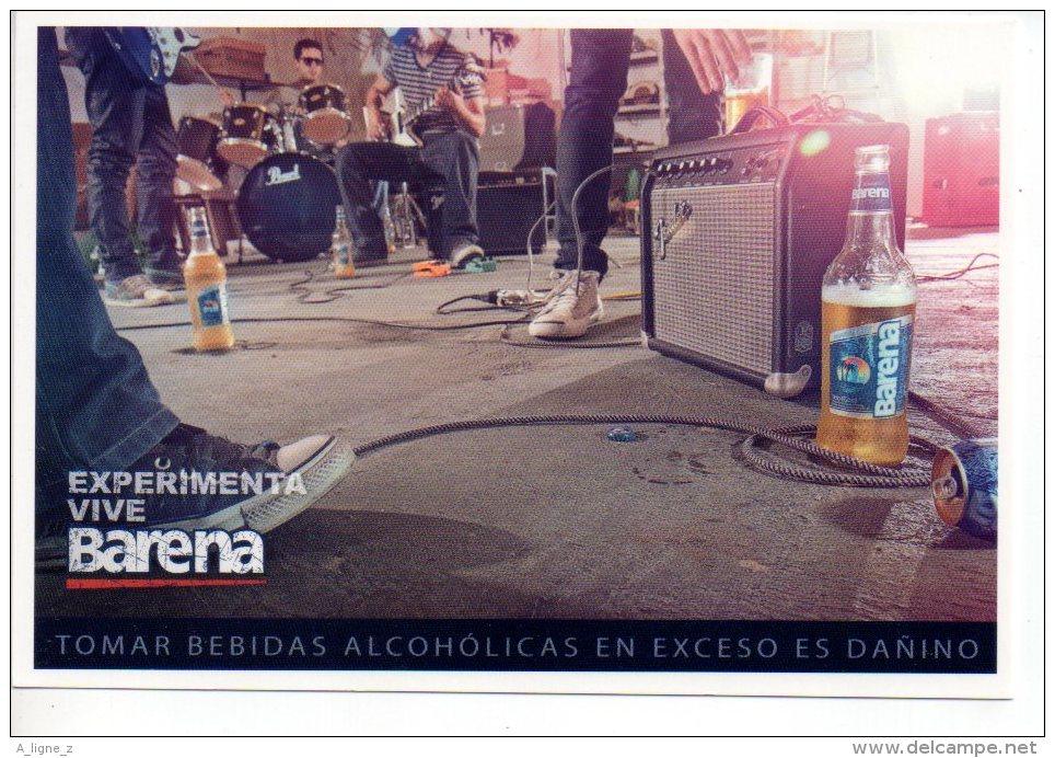 REF 217 CPM Freecard PEROU PERU Lima Type Cart'com Biere BARENA - Publicidad