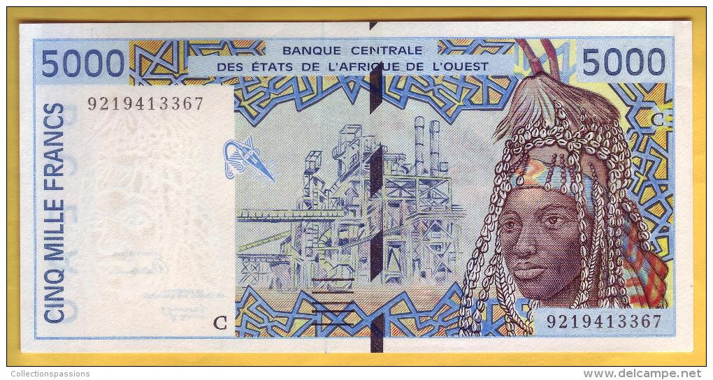 BANQUE DE L´ AFRIQUE DE L´OUEST - Burkina Faso - Billet De 5000 Francs. 1992 - Burkina Faso