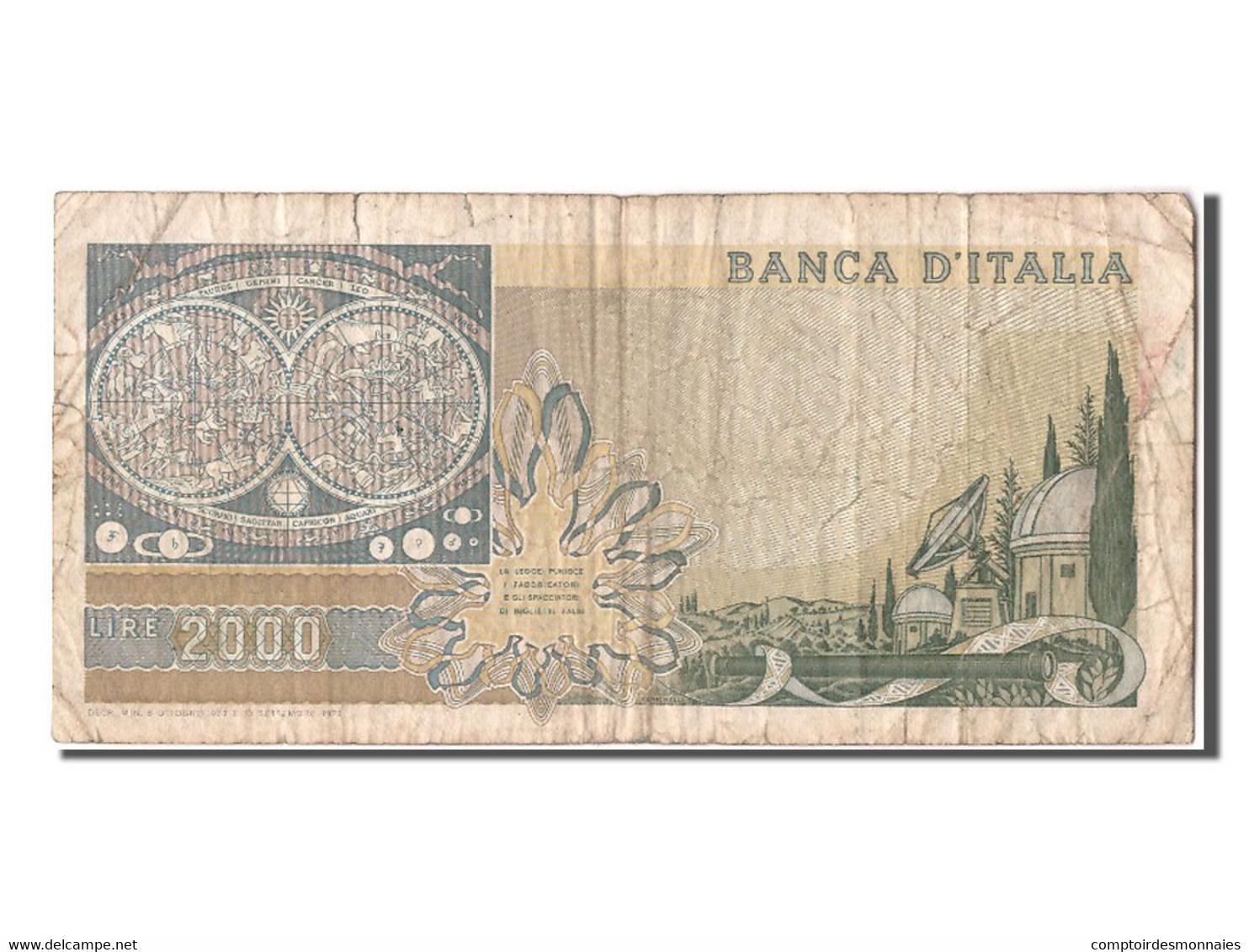 [#304448] Italie, 2000 Lire Type Galileo - 2000 Lire