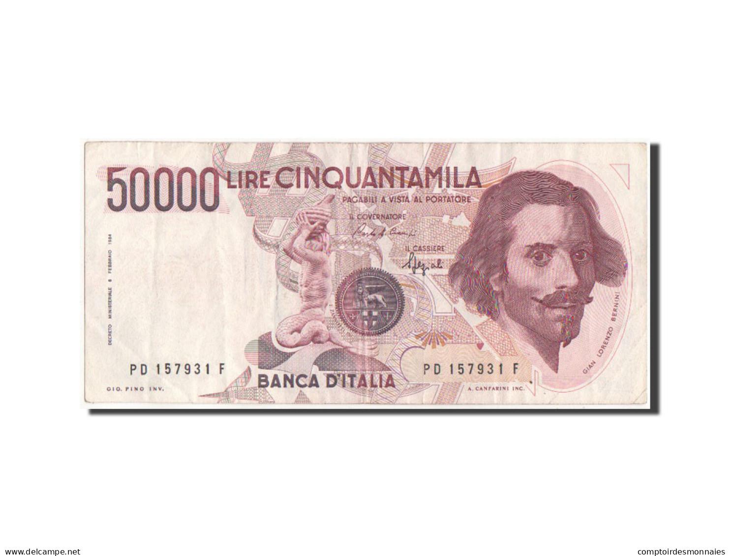 [#42099] Italie, 50 000 Lire 1984 Type Bernini, 6.2.1984, Pick 113b - [ 2] 1946-… : République