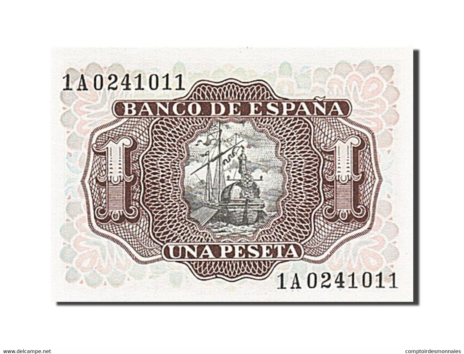 [#257151] Espagne, 1 Peseta, Type Santa Cruz - [ 3] 1936-1975 : Régence De Franco