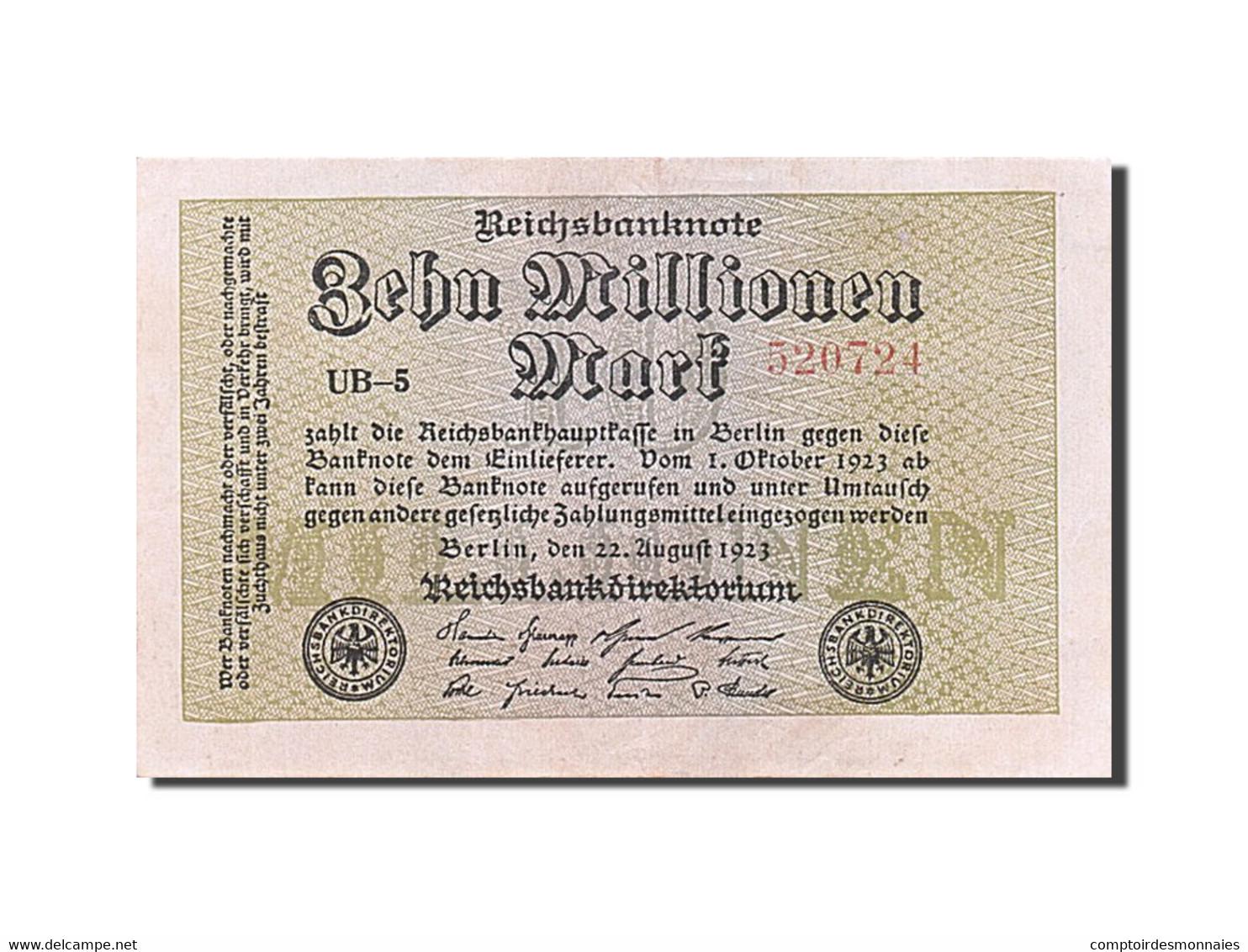 [#256626] Allemagne, 10 Millions Mark, Type 1923 - [ 3] 1918-1933 : Weimar Republic