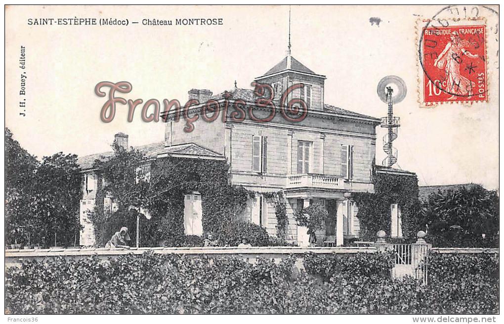 (33) Saint St Estèphe - Château Montrose - 2 SCANS - Frankrijk