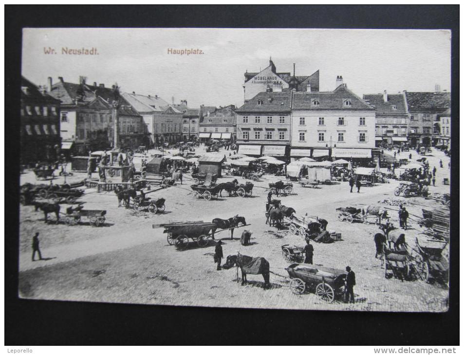AK WIENER NEUSTADT Hauptplatz Ca.1910 ///// D*16117 - Wiener Neustadt