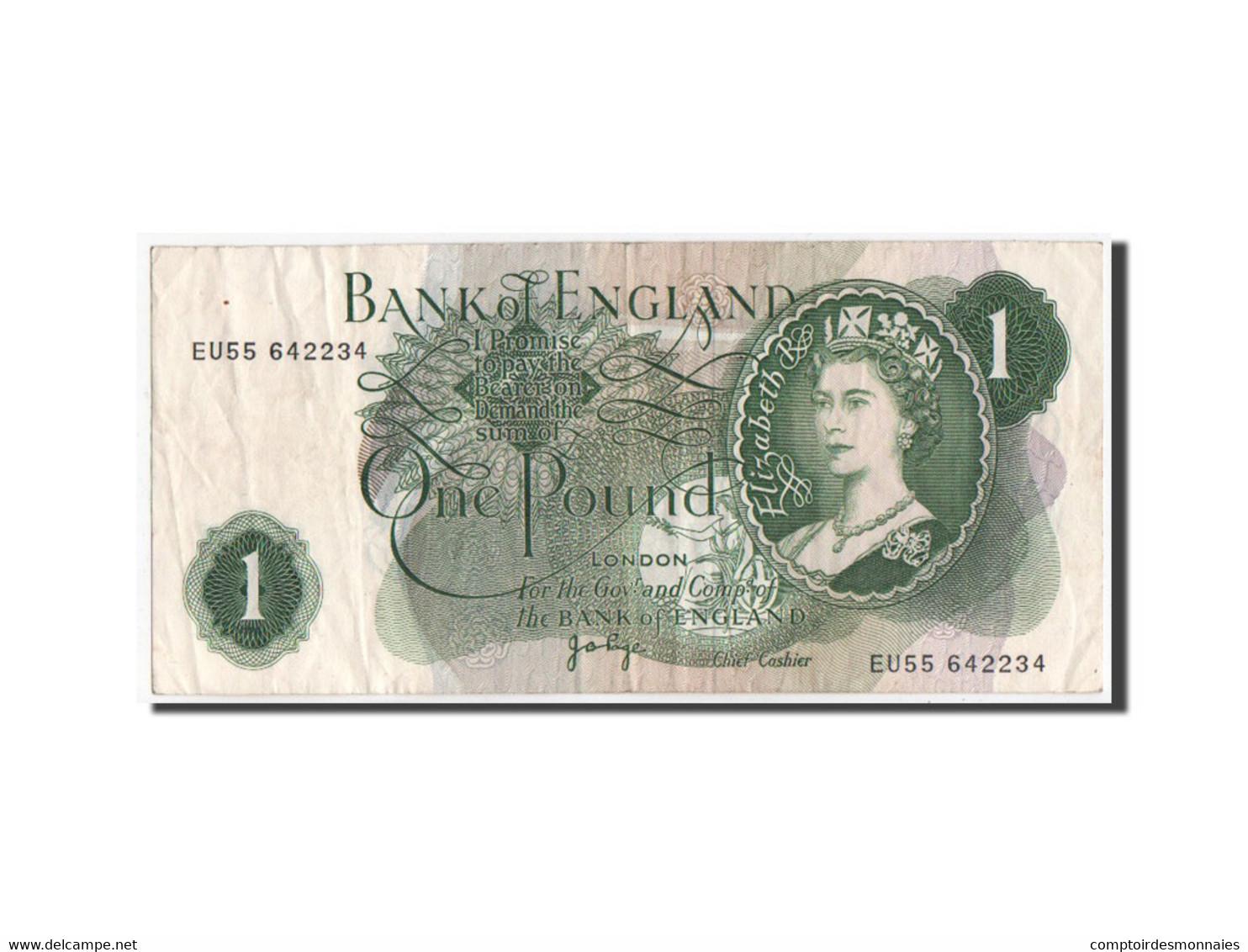 [#350555] Grande Bretagne, 1 Pound Type 1957-61 ND, Pick 374g - 1952-… : Elizabeth II