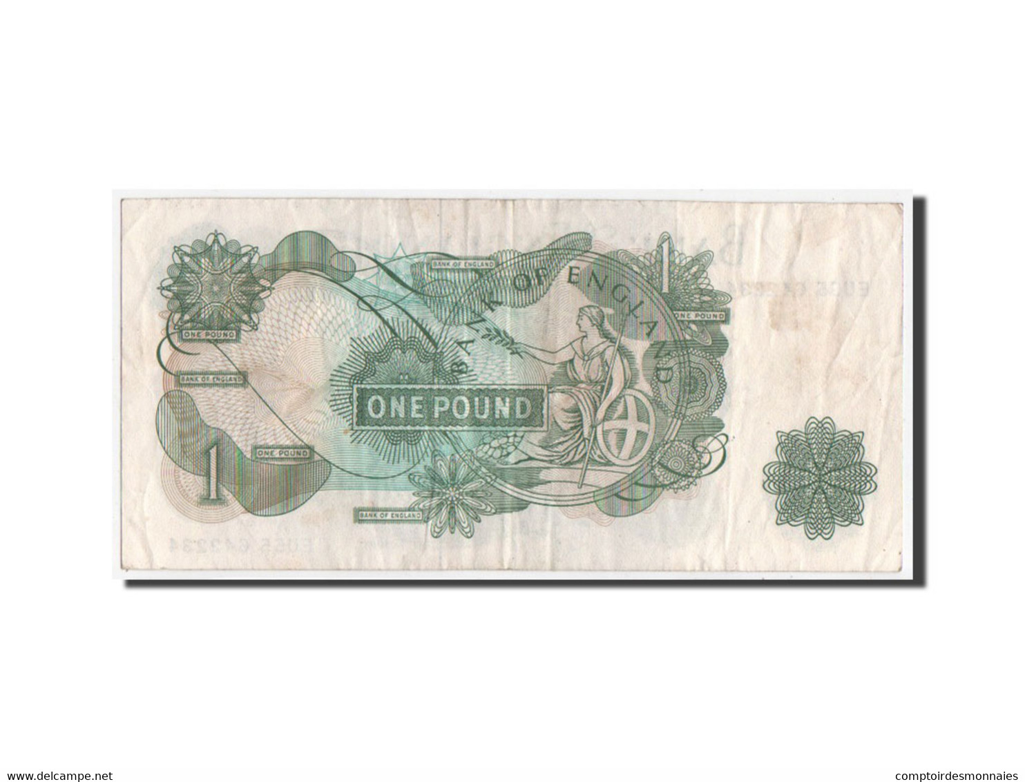 [#350555] Grande Bretagne, 1 Pound Type 1957-61 ND, Pick 374g - 1 Pound