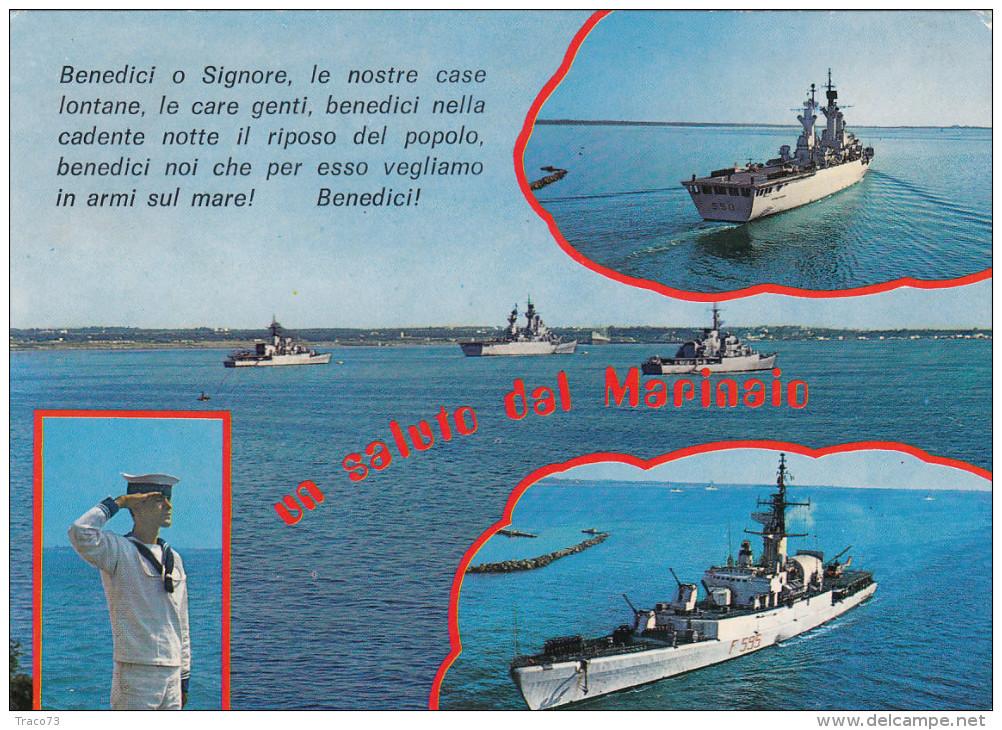"""INCROCIATORE  """" VITTORIO VENETO  """"  F 595  In Vedutine  /   Viaggiata - Guerra"""