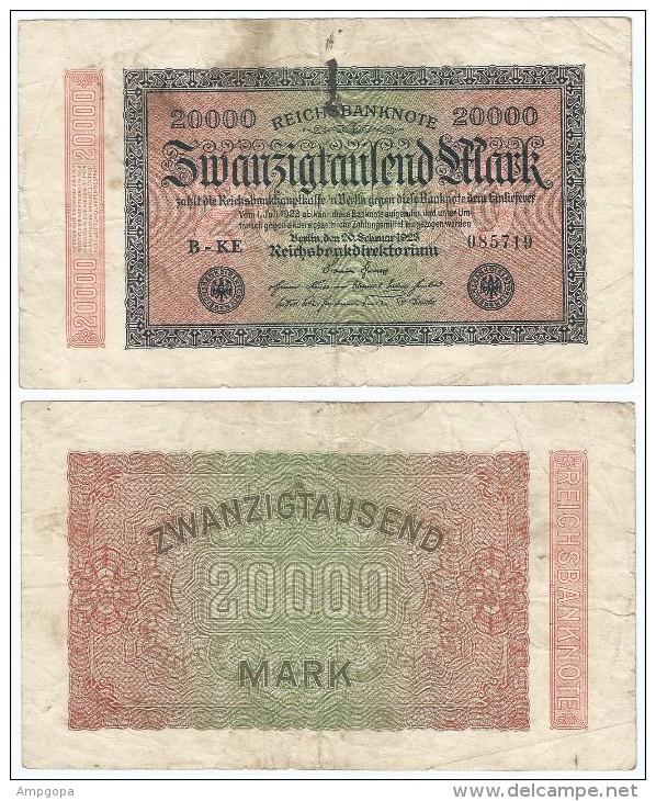 Alemania - Germany 20,000 Mark 1923 Pick-85-a Ref 72-5 - 20000 Mark