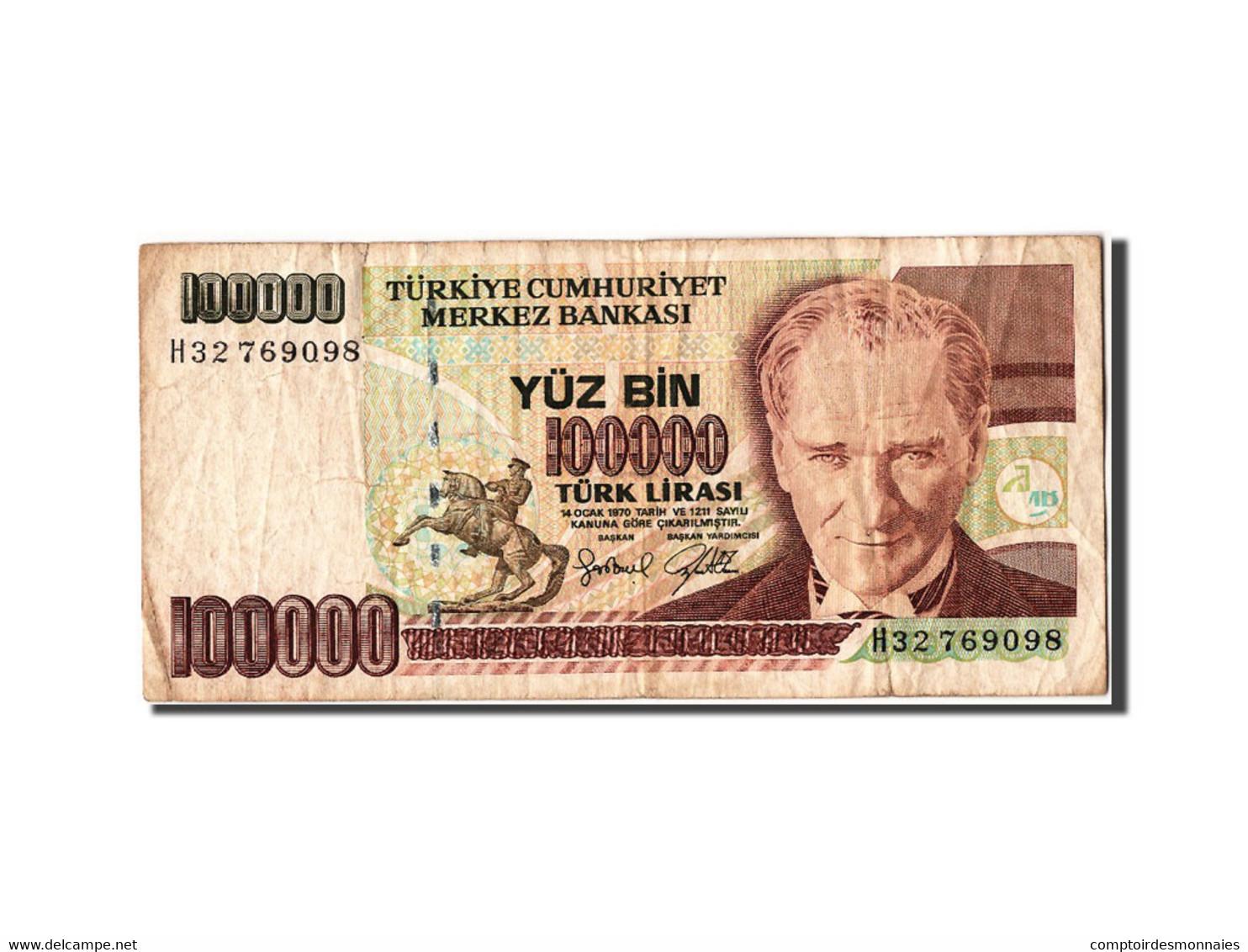 Turquie, 100 000 Lira Type Atatürk - Turquie