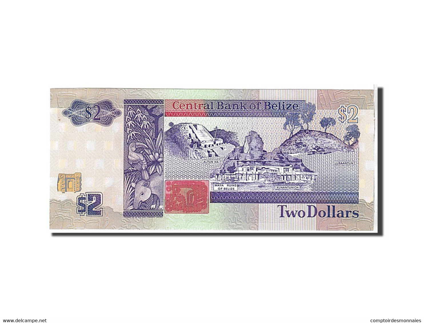 Belize, 2 Dollars Type 1990 - Belize
