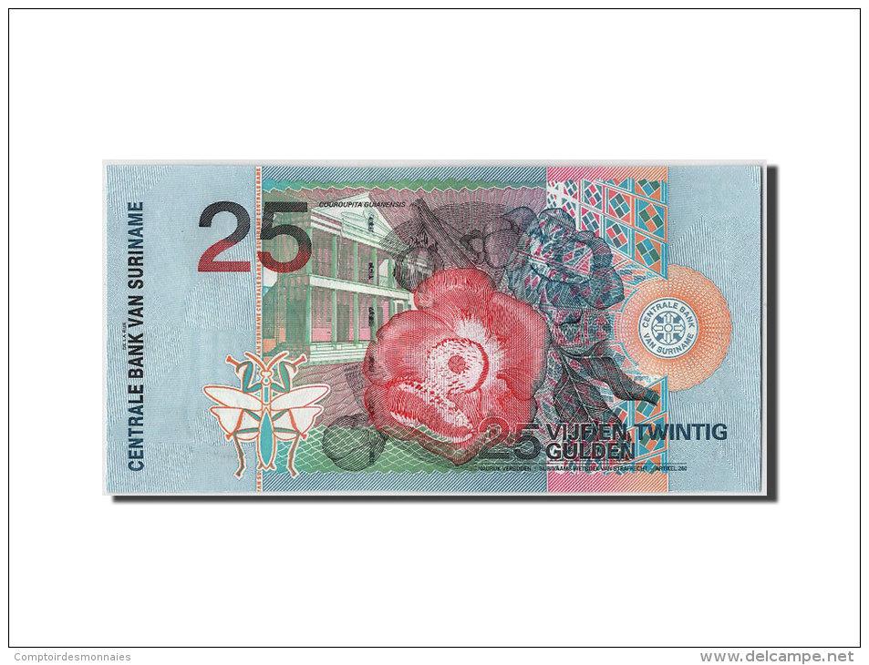 [#304060] Suriname, 25 Gulden Type Toucan à Bec Rouge - Surinam