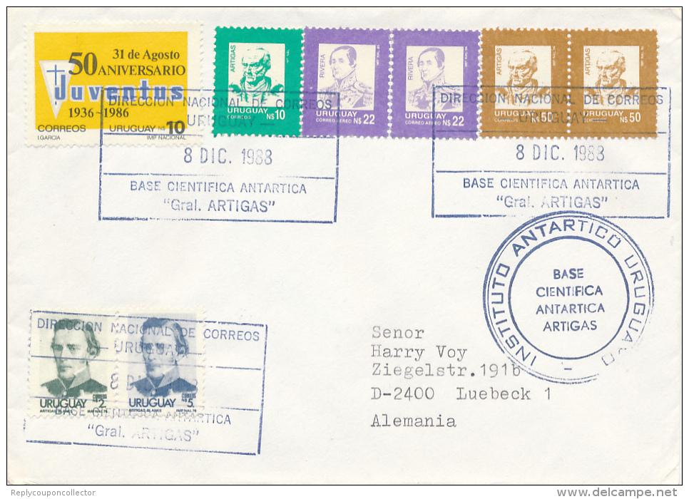 URUGUAY - 1988 ,  INSTITUTIO ANTARTICO URUGUAY   Gral. ARTIGAS - Uruguay