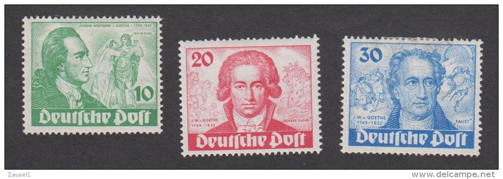 Berlin Nr. 61 - 63 - 200. Geburtstag Von Goethe 1949 -  Mit Falz - Siehe Scans - Ungebraucht