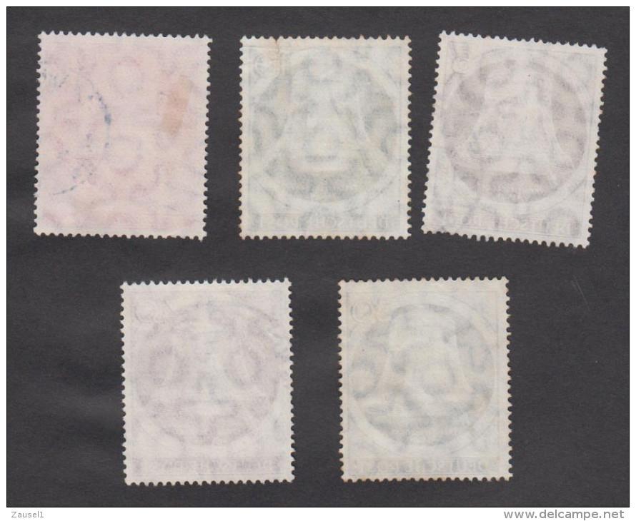 Berlin Freiheitsglocke Klöppel Links, Michel Nr. 75 - 79 , Kompletter Gestempelter Satz - Gebraucht