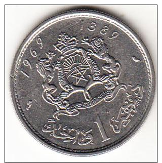 MARRUECOS 1969 HASSAN II 1 DIRHAM    EBC   CN4306 - Marruecos