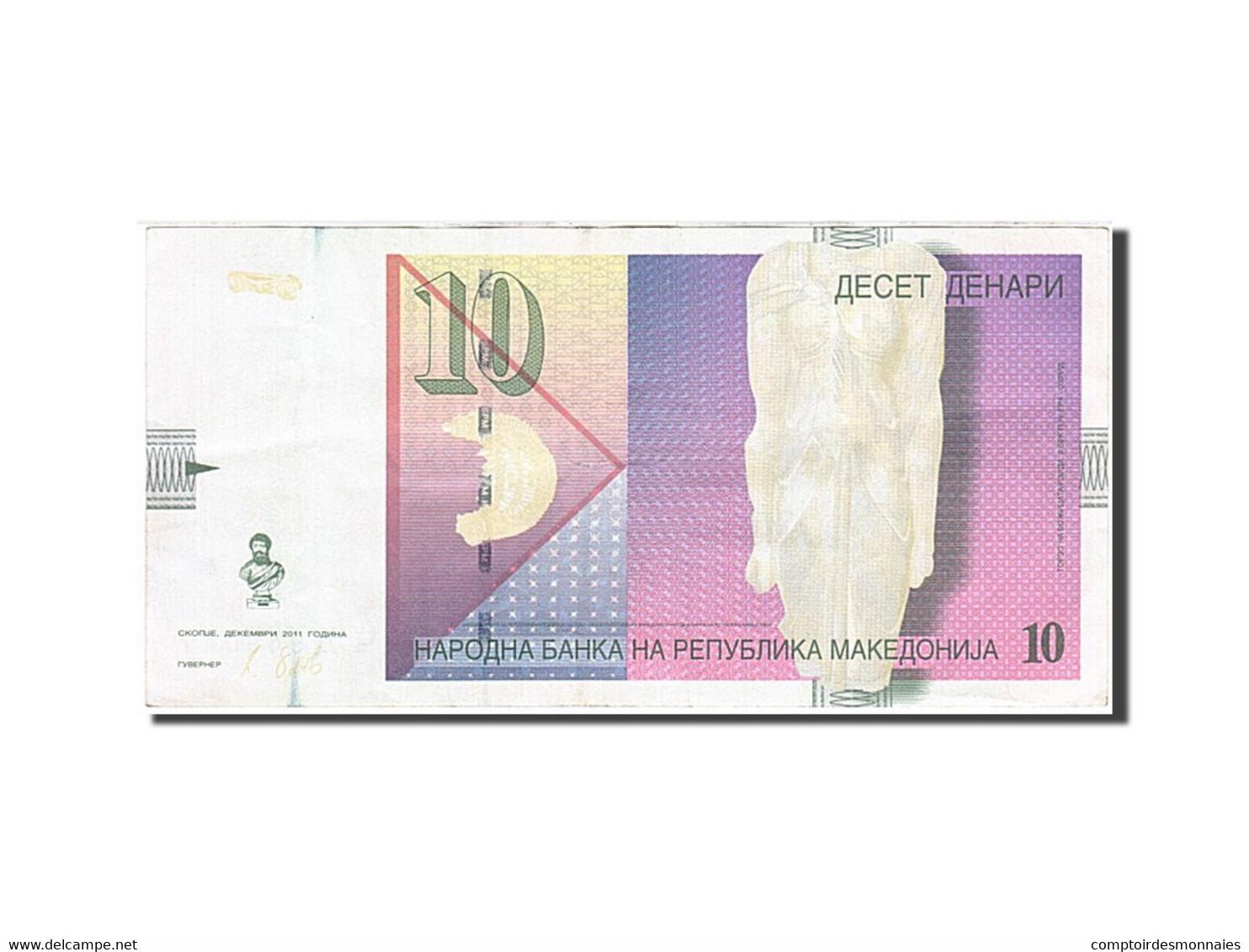Macédoine, 10 Denari, Type Déesse Isida - Macédoine