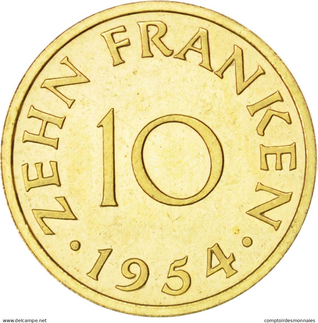 Sarre, 10 Franken 1954 Essai, KM E1 - Sarre