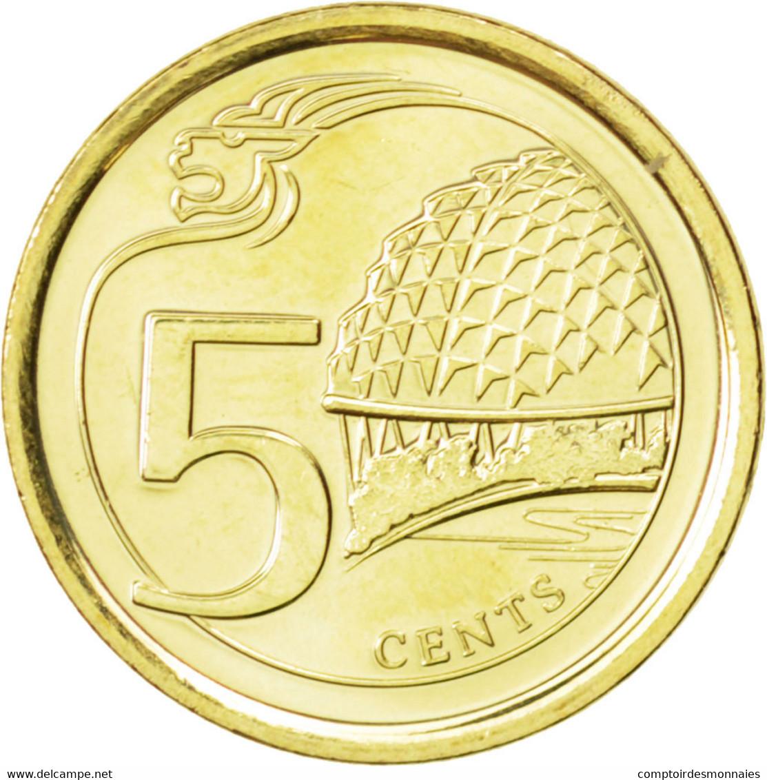 Singapour, 5 Cents 2013, KM New - Singapore