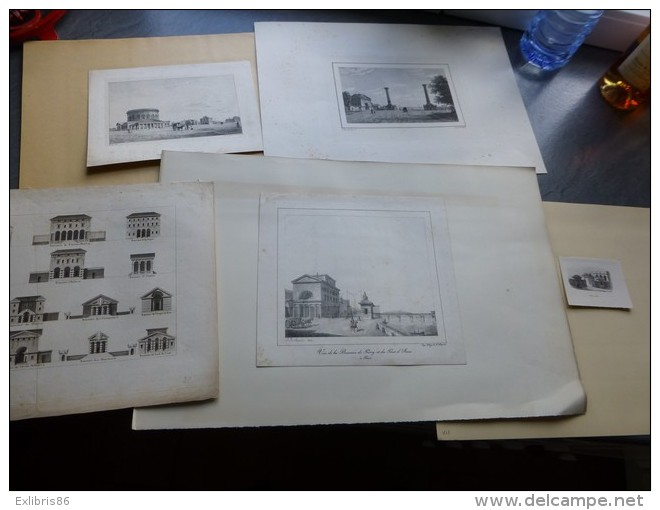 Vieux-Paris, Les Barrières De Paris, Lot De  5 Gravures Vers 1830? Ref 895 G8 - Stampe & Incisioni