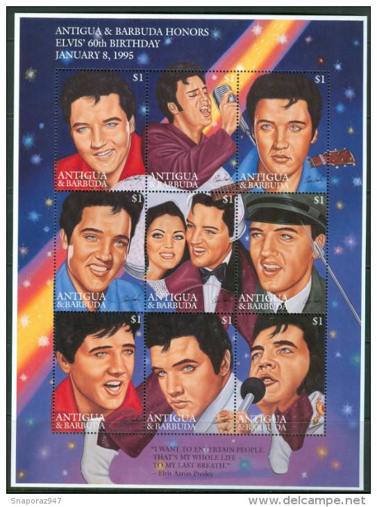 1995 Antigua & Barbuda Elvis Presley Block MNH** D131 - Elvis Presley