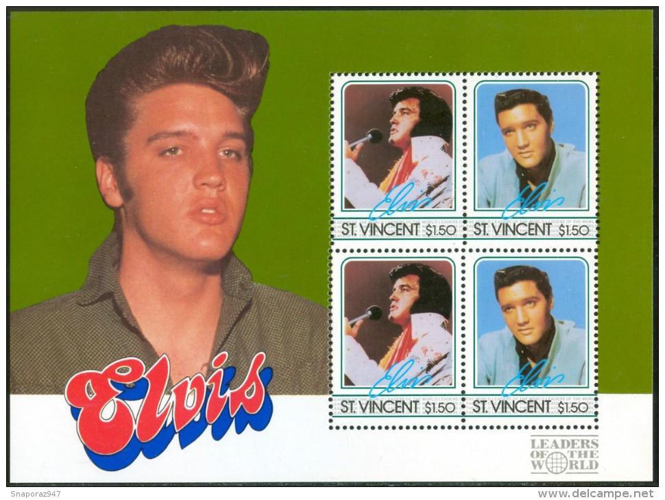 1985 S.Vincent Elvis Presley Block MNH** D274 - Elvis Presley