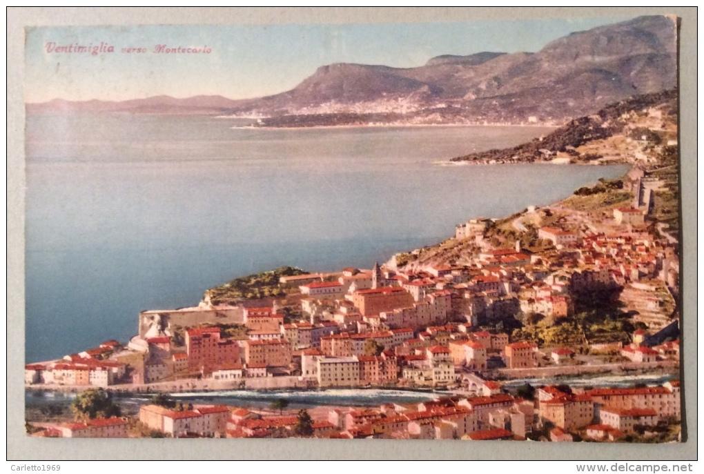 Ventimiglia Verso Montecarlo Viaggiata Del 1938 In Ottime Condizioni - Imperia
