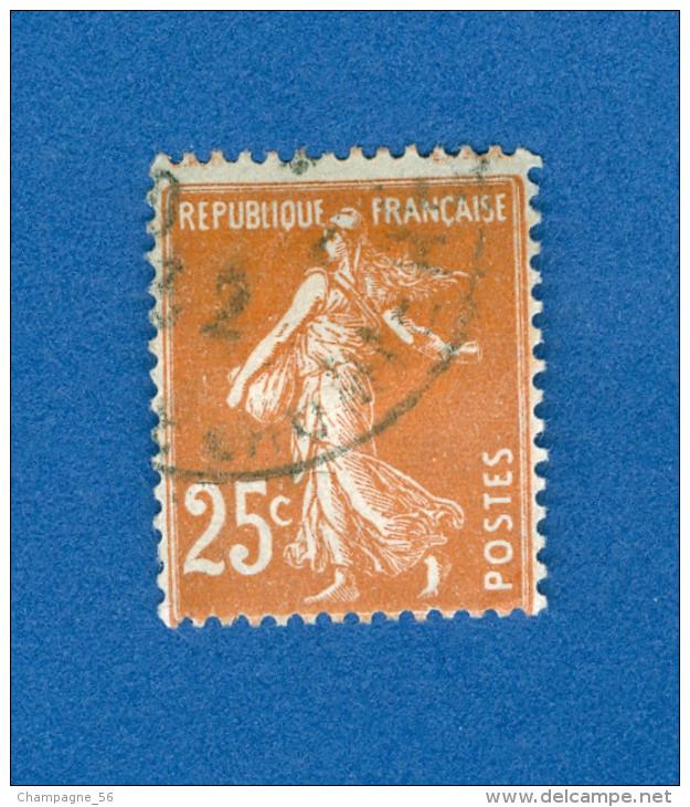 1927 / 1931  N° 235   TYPE  SEMEUSE FOND PLEIN   OBLITÉRÉ DOS CHARNIÈRE - Varieties: 1921-30 Used