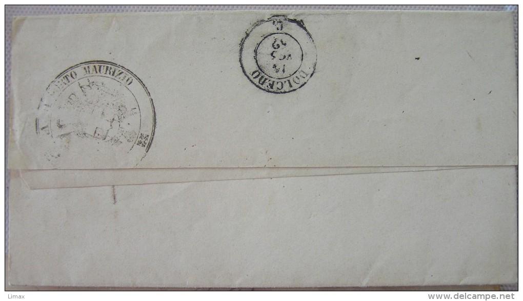 Ligurien Umschlag Porto Maurizio An Das Bürgermeisteramt In Dolcedo (Imperia) 1862 - ...-1850 Préphilatélie