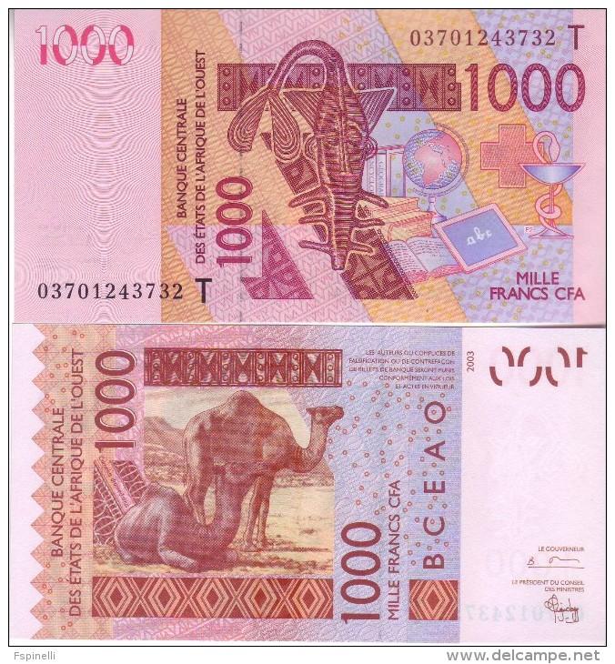 New  TOGO  1'000 Francs CFA    P815Ta   Dated 2003   UNC - Togo