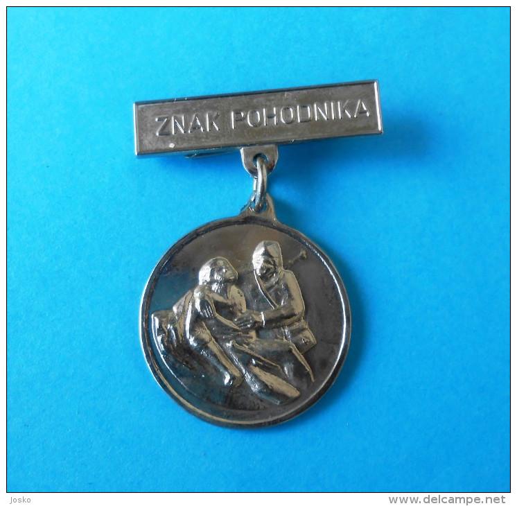 WW2 Yugoslavia Partisans Army - ZNAK POHODNIKA ( Rare Medal ) * Partisan Partizans Partizan Partigiano - Medaillen & Ehrenzeichen