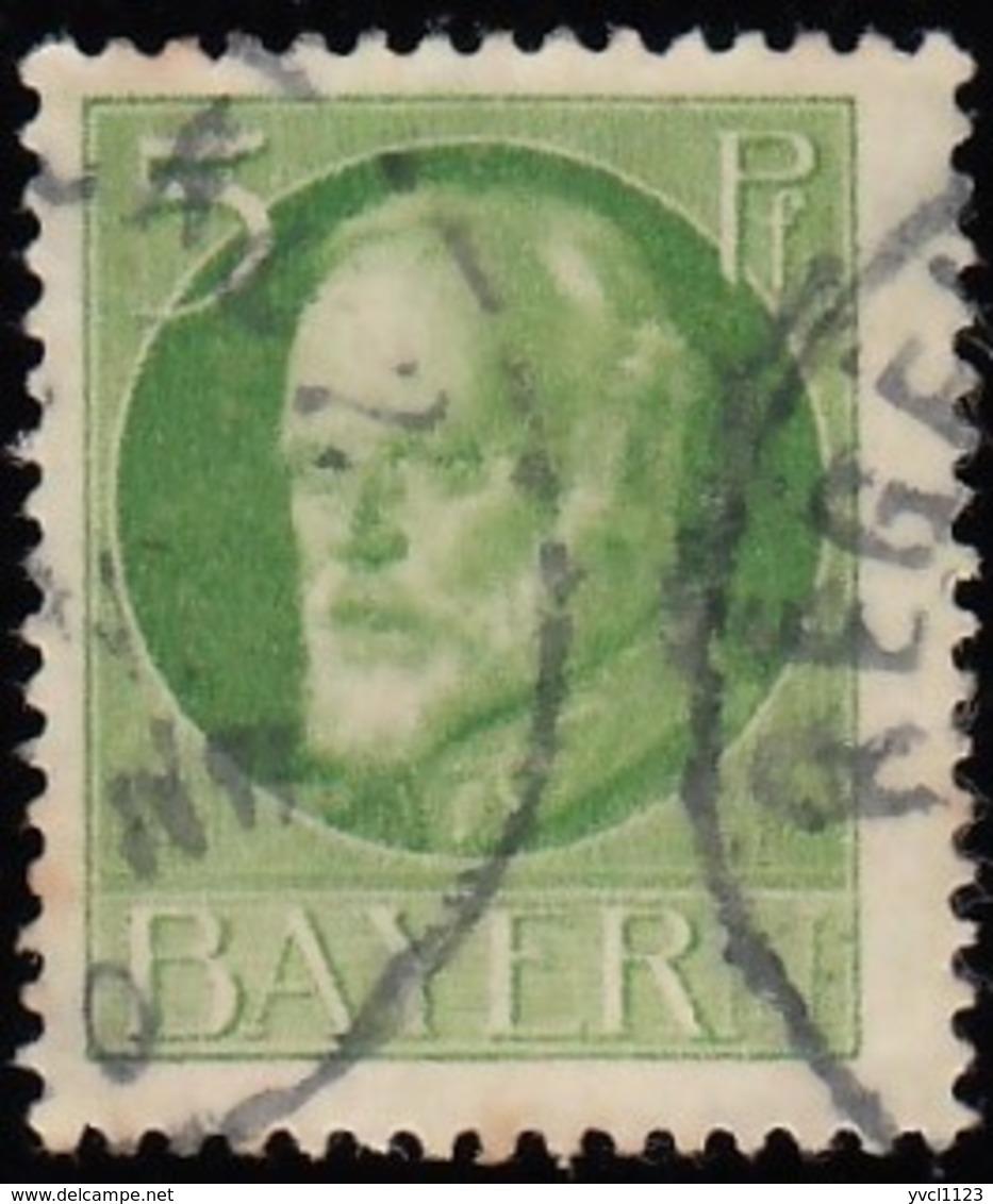 BAVARIA - Scott #96 King Ludwig III / Used Stamp - Bavaria