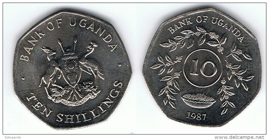 UGANDA 10 SHILLINGS 1987 SC - Uganda