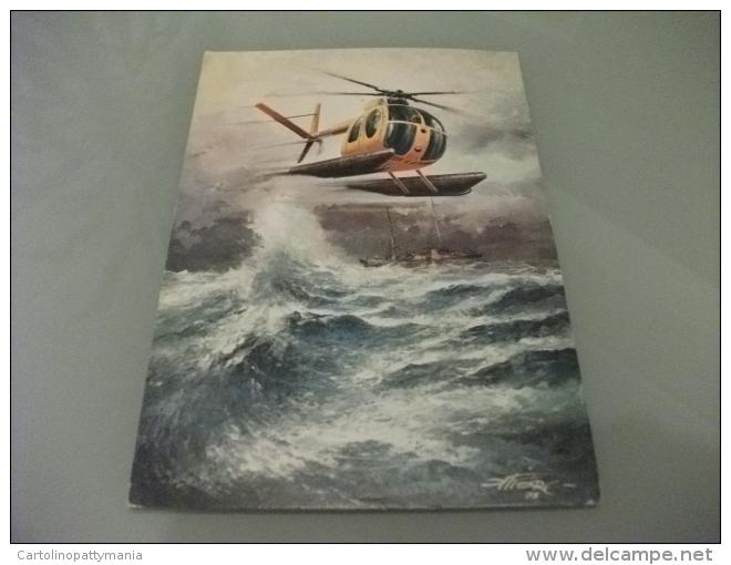 Elicottero  In Volo Helicopters NARDI HUGHES 500 M IN VERSIONE ANFIBIA  SERVIZIO AEREO DELLA GUARDIA DI FINANZA ILLUSTR. - Elicotteri