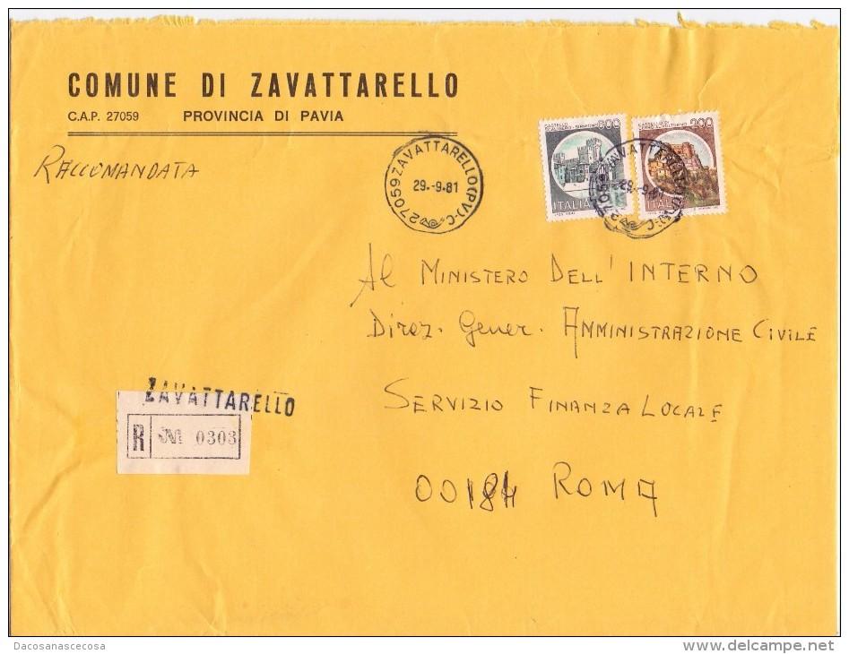 COMUNE DI ZAVATTARELLO  - 27059 - PROV PAVIA - R - 1981 - FTO 18X24 - TEMATICA TOPIC STORIA COMUNI D´ITALIA - Affrancature Meccaniche Rosse (EMA)