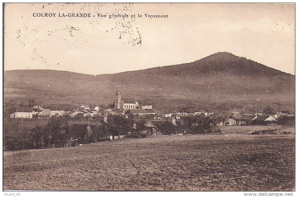 Cpa Colroy La Grande, Vue Générale Et Le Voyemont - Colroy La Grande