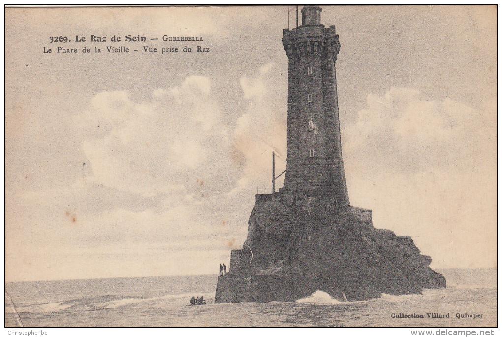 CPA Le Raz De Sein, Gorlebella, Le Phare De La Vieille, Vue Prise Du Raz, Lighthouse, Vuurtoren (pk17103) - Ile De Sein
