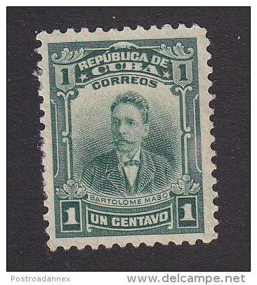 Cub, Scott #247, Mint Hinged, Batrolome Maso, Issued 1911 - Kuba