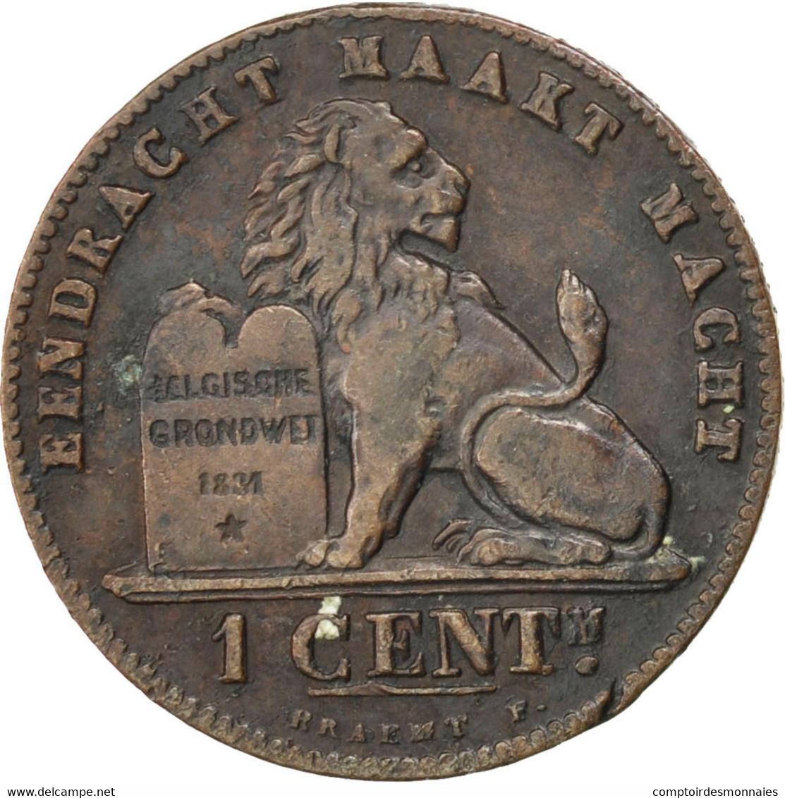 [#84149] Belgique, Léopold II, 1 Centime 1907, KM 34.1 - 1865-1909: Leopold II