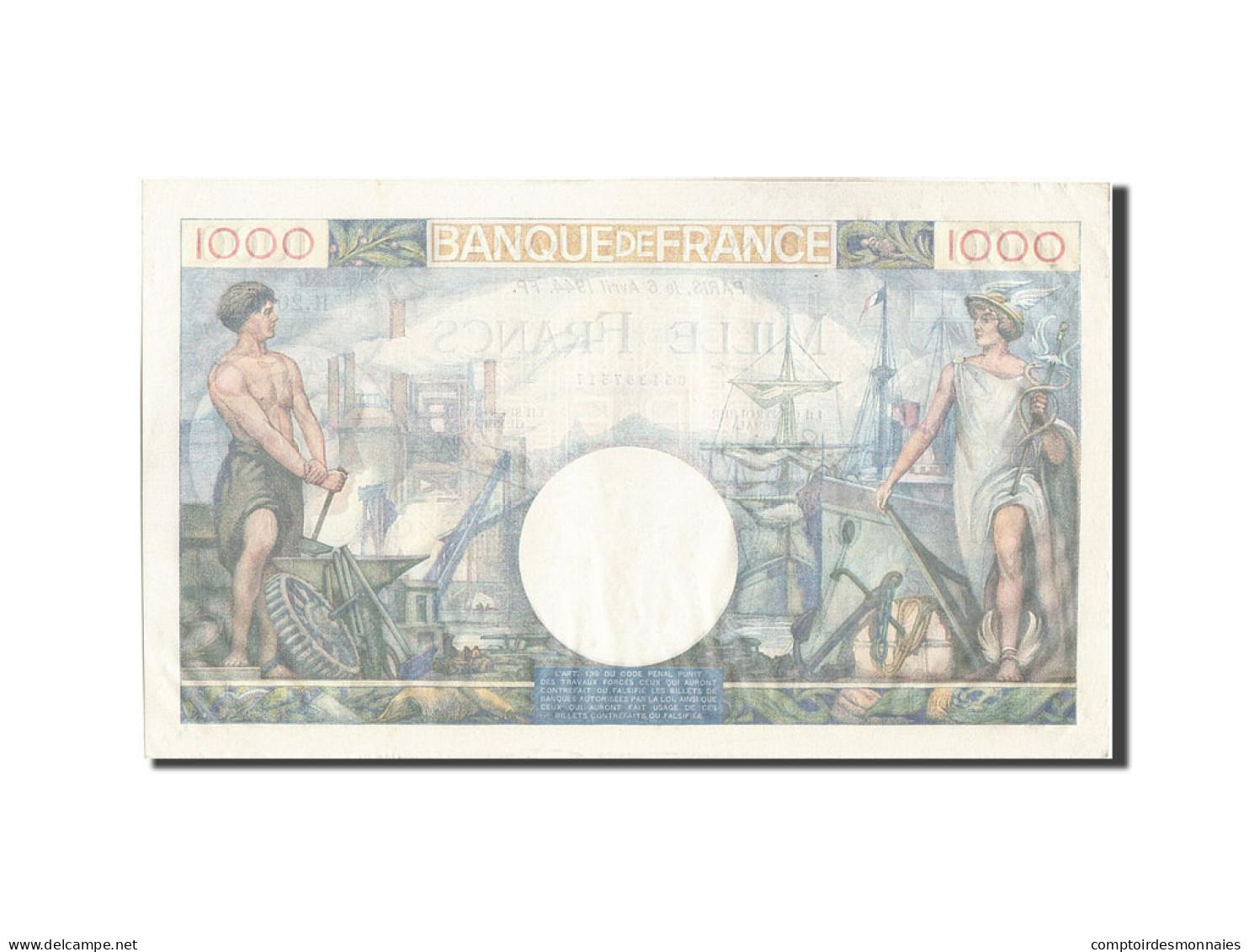 [#204560] 1000 Francs Type Commerce Et Industrie, 06 Avril 1944, Fayette 39.5 - 1871-1952 Antichi Franchi Circolanti Nel XX Secolo