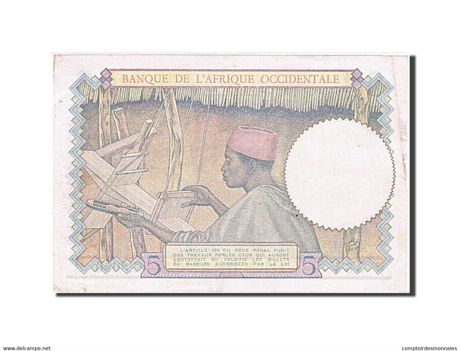 Afrique Occidentale, 5 Francs, Type 1934-1937 - Otros – Africa