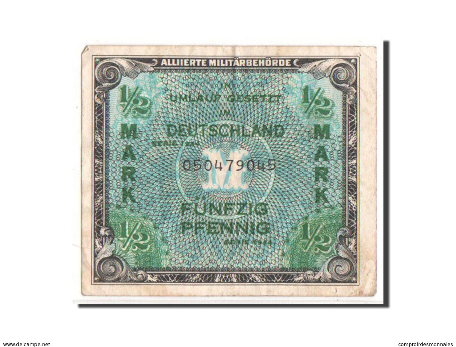 [#350183] Allemagne, 1/2 Mark Type 1944, Pick 191a - [ 5] 1945-1949 : Occupation Des Alliés