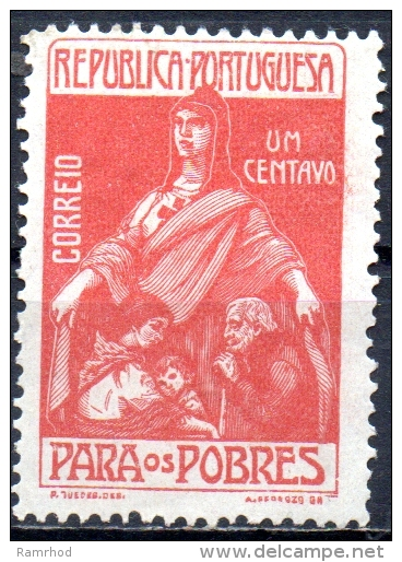 PORTUGAL 1915 For The Poor - 1c Charity MNG - 1910-... Republic