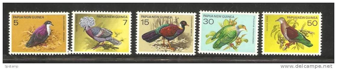 Papua New Guinea 1977 Bird Set 5 MNH Pigeons & Doves - Papua Nuova Guinea