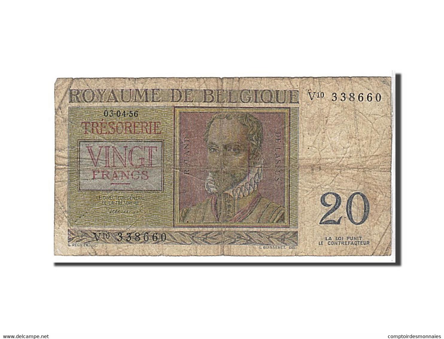 Belgique, 20 Francs Type 1956 - [ 2] 1831-... : Reino De Bélgica