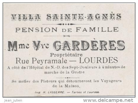 65 - LOURDES  - PENSION DE FAMILLE  -  VILLA SAINTE AGNES  -  Mme Vve  GARDERES - France