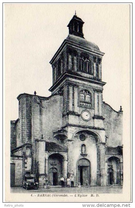 3 Cpa Barsac - L'église, Bord Du Ciron, Entrée - Autres Communes